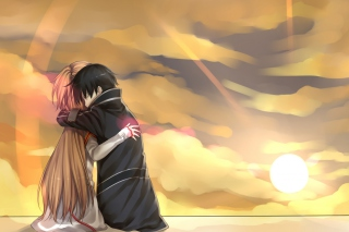 Anime Hug Wallpaper for Android, iPhone and iPad