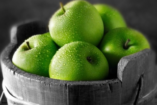 Green Apples Background for Android, iPhone and iPad