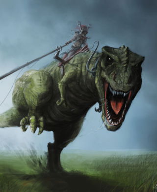 Angry Dinosaur - Obrázkek zdarma pro Nokia Asha 202