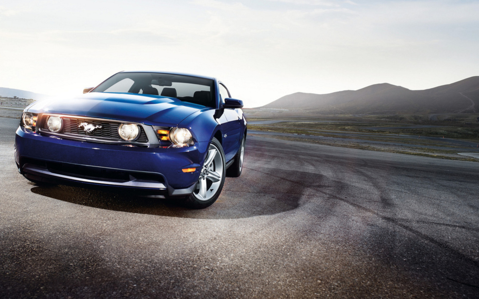 Blue Ford Mustang Wallpaper for 1680x1050