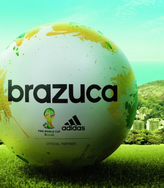 Adidas Brazuca Match Ball FIFA World Cup 2014 - Obrázkek zdarma pro iPhone 4