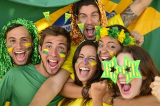 Brazil FIFA Football Fans Picture for Android, iPhone and iPad
