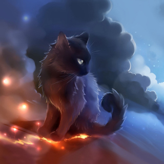 Kitten in Clouds - Obrázkek zdarma pro 320x320