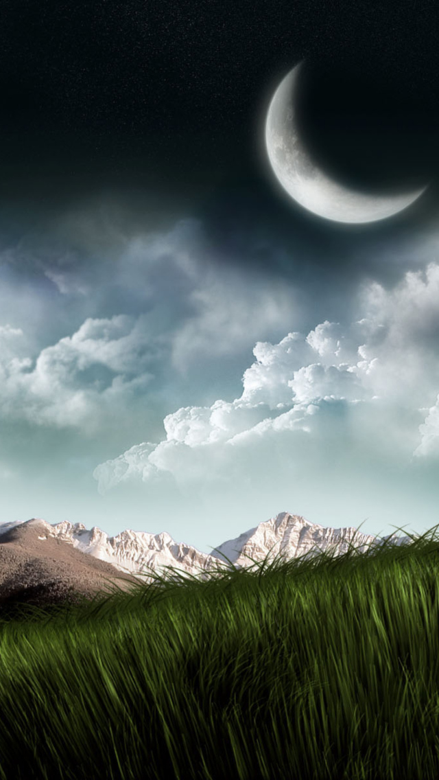 3d moon landscape photography fondos de pantalla gratis for Fondos 3d iphone