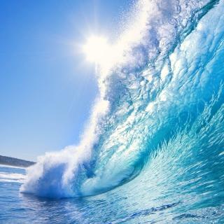 Blue Wave - Obrázkek zdarma pro iPad 2