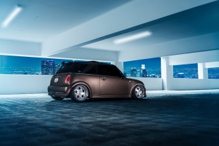 Mini Cooper Matte Black sfondi gratuiti per cellulari Android, iPhone, iPad e desktop