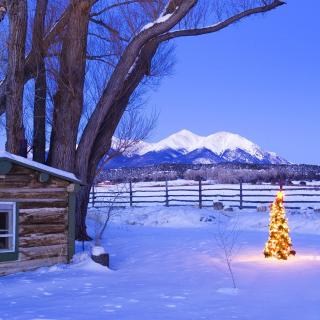 December in Cottage - Obrázkek zdarma pro 1024x1024