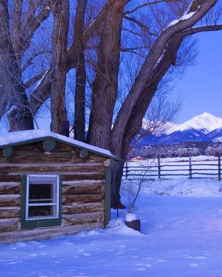 December in Cottage - Obrázkek zdarma pro iPhone 6 Plus