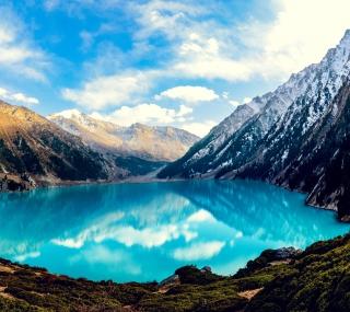 Big Mountain Lake - Obrázkek zdarma pro 208x208