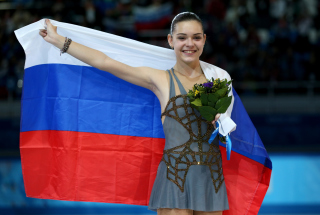 Free Adelina Sotnikova Figure Skating Champion Picture for Android, iPhone and iPad