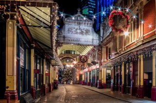 London Leadenhall Market Background for Android, iPhone and iPad