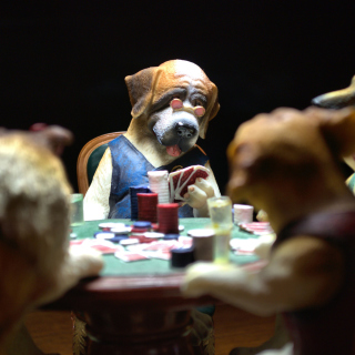 Dogs Playing Poker - Obrázkek zdarma pro iPad mini