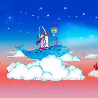 Love on Clouds - Obrázkek zdarma pro iPad Air