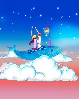 Love on Clouds - Obrázkek zdarma pro iPhone 5C
