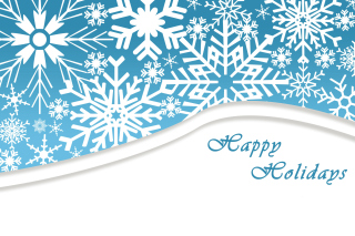 Snowflakes for Winter Holidays Wallpaper for Android, iPhone and iPad