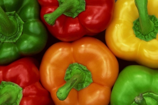 Colored Peppers Wallpaper for Android, iPhone and iPad