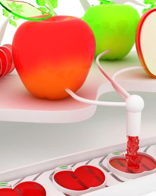 Glass and Plastic Apple - Obrázkek zdarma pro iPhone 4S