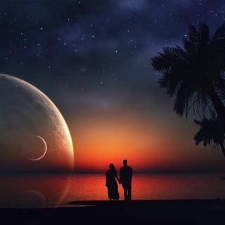 Romantic Night on Sea - Obrázkek zdarma pro iPad Air