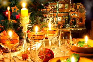 Serving New Years Table Background for Android, iPhone and iPad