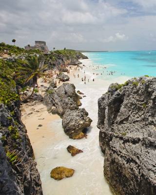Cancun Beach Mexico - Obrázkek zdarma pro Nokia C-5 5MP
