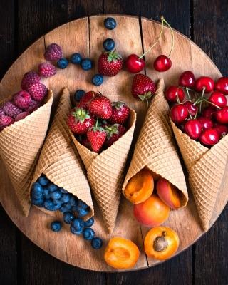 Raspberries, cherries, apricots - Obrázkek zdarma pro Nokia Lumia 1520
