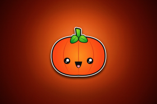 Cute Orange Pumpkin Wallpaper for Android, iPhone and iPad