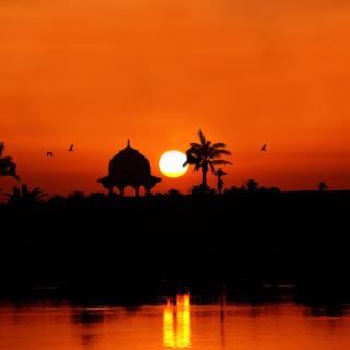 Egypt Nile Sunset - Obrázkek zdarma pro iPad mini 2
