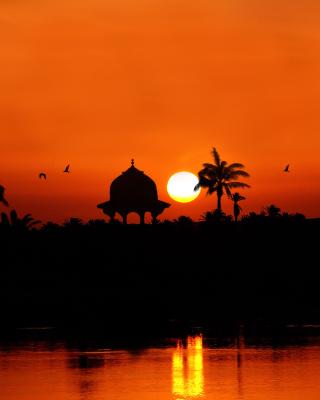 Egypt Nile Sunset - Obrázkek zdarma pro Nokia Asha 305