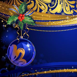 Christmas tree toy Blue Ball - Obrázkek zdarma pro iPad