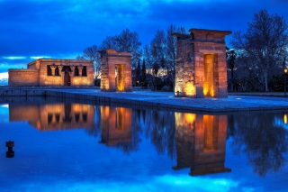 Debod Temple - Madrid Background for Android, iPhone and iPad