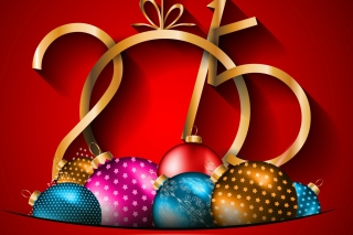 Happy New Year 2015 Decorations Background for Android, iPhone and iPad