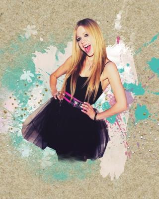 Avril Lavigne In Black Dress - Obrázkek zdarma pro 240x432