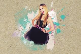Avril Lavigne In Black Dress - Obrázkek zdarma pro Nokia C3