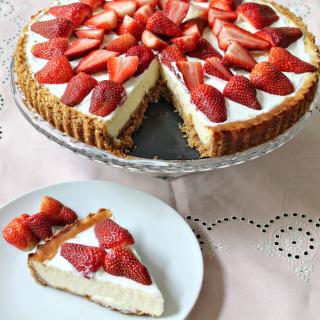 Strawberry Cheesecake - Obrázkek zdarma pro iPad 3