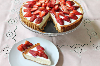 Strawberry Cheesecake Picture for Android, iPhone and iPad