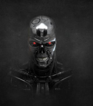 Terminator Skeleton - Obrázkek zdarma pro 128x160