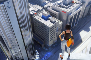 Girl On A Roof Wallpaper for Android, iPhone and iPad