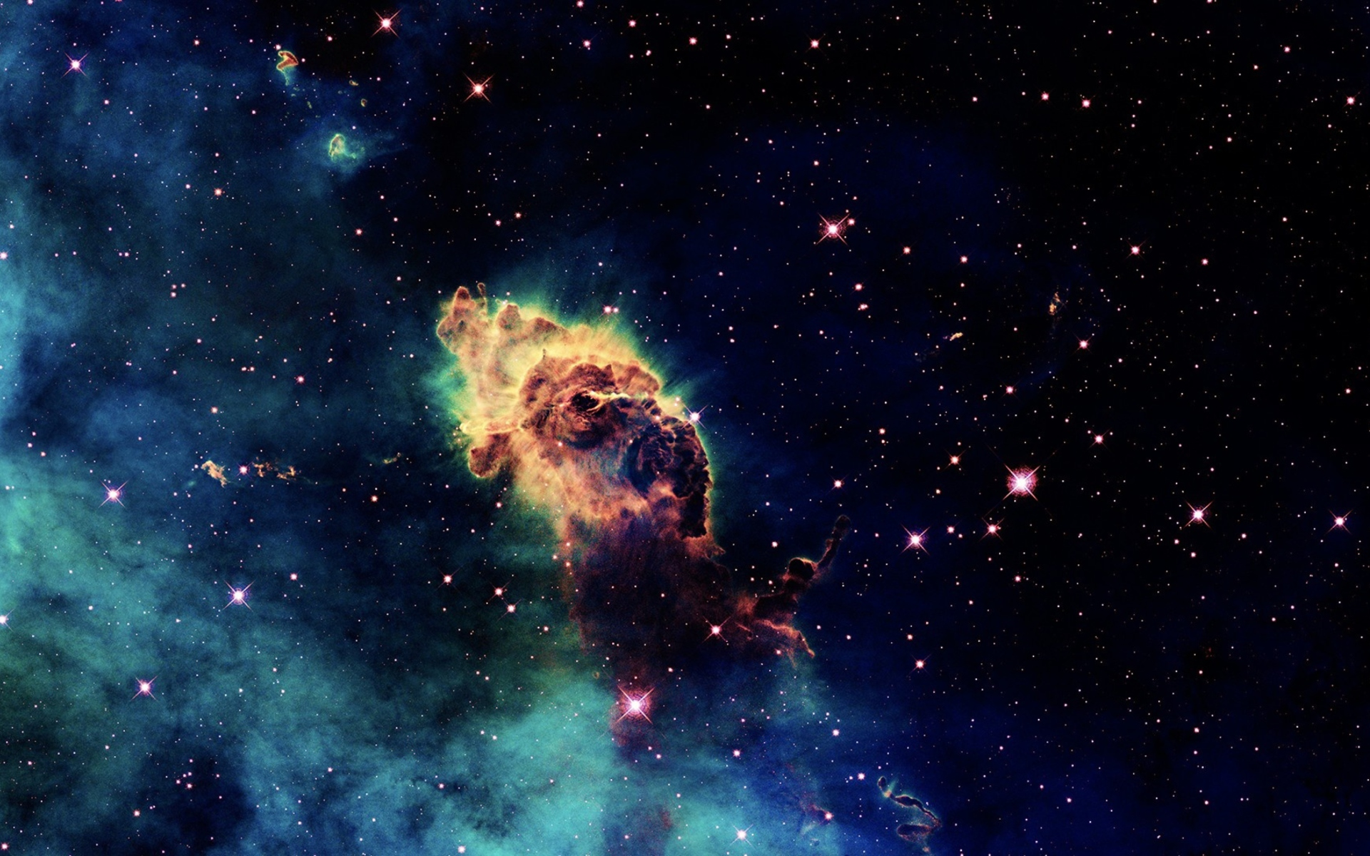Galactic clouds wallpaper for widescreen desktop pc for Sfondi spazio hd