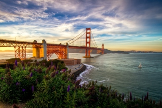 Golden Gate Bridge Background for Android, iPhone and iPad