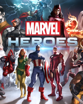 Marvel Comics Heroes - Obrázkek zdarma pro 352x416