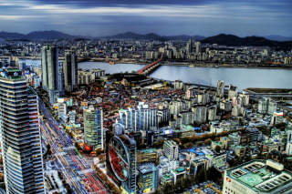 Free Seoul Panorama South Korea Picture for Android, iPhone and iPad