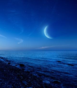 Moon On Gravel Beach - Obrázkek zdarma pro Nokia Asha 501