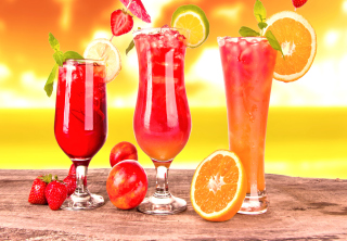 Free Summer Yummy Cocktail Picture for Android, iPhone and iPad