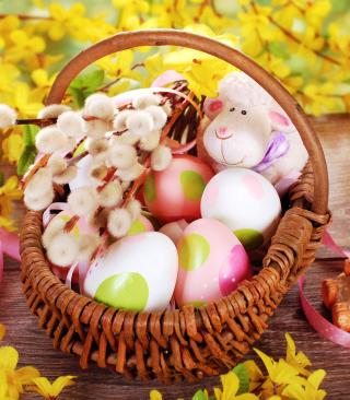 Easter Basket And Sheep - Obrázkek zdarma pro 320x480