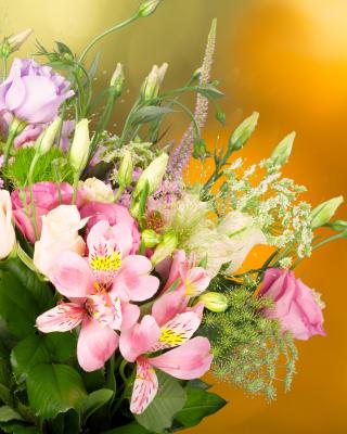 Bouquet of iris flowers - Obrázkek zdarma pro Nokia Lumia 505