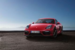 Porsche Cayman GTS 2015 Background for Android, iPhone and iPad