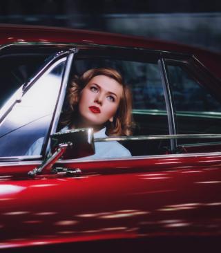 Model In Luxury Car - Obrázkek zdarma pro 640x960
