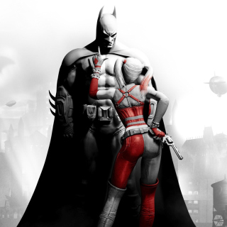 Batman Arkham Knight with Harley Quinn - Obrázkek zdarma pro iPad Air