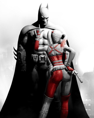 Batman Arkham Knight with Harley Quinn - Obrázkek zdarma pro Nokia Asha 300
