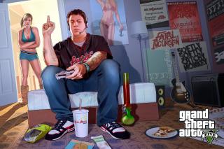 Grand Theft Auto V Jimmy Gamer - Obrázkek zdarma pro Sony Xperia E1